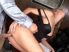 Smut and stylish Kiara Diane having xxx at work