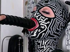 All we know that Latex Lucy is on the most craziest bitches in the adult industry, and today she is going to present you something special. She is being the victim of the sexual harassment of the female in black gas mask.