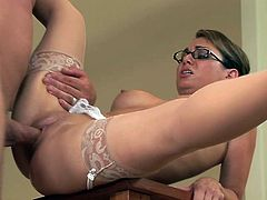 Holly West is a wonderful sex teacher in glasses