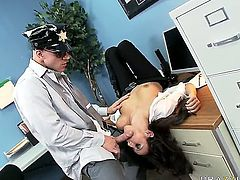 Enjoy luxurious brunette Police whore Breanne Benson and officer Johnny Sins had a real hard day. So the cop doesnt mean to waste time and make this horny slut sucking his big cock and then drill her hard