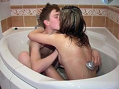 Russian teens in love
