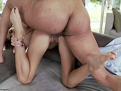 Big and muscular hunk rams tight shaved cunt of Juelz Ventura. She loves this kind of pounding because it gives her a chance to feel alive!