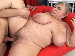 Aged chunky has some  innocent huge stick huge in her gash