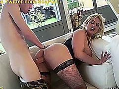 Busty milf surprised by big cock