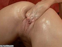 Liz is a dark haired young girl with nice shaved pussy. She fist fucks her hole in this scene. Her love hole is flexible enough to take all five fingers with ease. Watch her enjoy vaginal fisting.