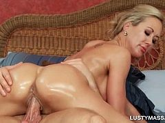 Blonde temptress cant get enough of masseurs huge shaft