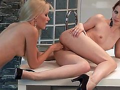 Judy Smile and Sophie Moone pleasing each other all day long