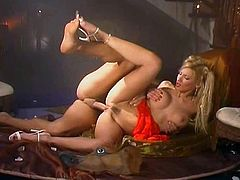 Scene from Las Lagrimas de Eros (2003). Slim and Busty Euro beauty fucked hard,,,That mask was stupid. but is Celia