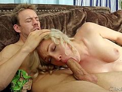 Sweet blonde Lily Labeau gettong sexual pleasure