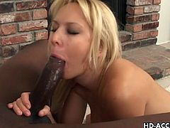 Holy shit this blonde chick that we have for you right here is so damn fine and has everything that could leave a man spanking the monkey like there is no tomorrow. Just come and watch this really fine looking chick sucking cock here!