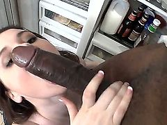Tessa Lane sports the most epic pair of tits and she is meeting her match. It is a giant black dick and Tessa goes straight for it, deepthroating that motherfucker with such skill.