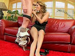 Glamorous Cindy Hope was pickuped by this crazy business man. She looks like real gentleman and this fact makes Cindys pussy wet. Babe lets him to lick her feet and toes before sucking his cock.