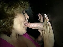 Jessi shows off her impressive deepthroat skills during her very first Gloryhole Adventure