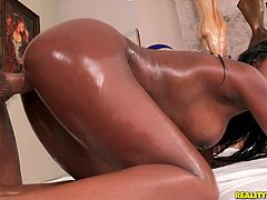 Black girlie with droopy tits and really big ass is like a bitter chocolate. This girlie won't melt but will groan beastly while getting poked doggy on the floor.