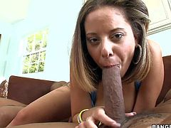 Chesty Jasmine plays with two monster cocks