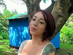 It was a sunny day when one of a kind triple X model Mila Treasure decided to spread her ass cheeks wide and show off her pussy which is more than ready for banging.