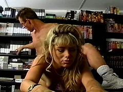 Sexy blonde starts her new porn career