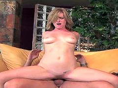 Slutty blonde bends in doggy and enjoys huge cock smashing her in dirty hardcore