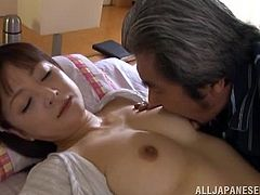A hot oriental wife loves having an older hubby as he wants to fuck her every single day no questions asked.
