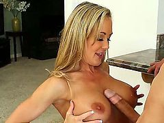 Luxurious lady with massive juggs Brandi Love is relaxing with her new boyfriend Bruce Venture. He licks loving hole of the diva before starting to bang her twat in doggie.