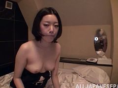 Naughty Japanese girl undresses and shows her tits in close up scenes. After that she gives a blowjob and gets a facial.