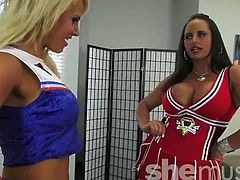Bouncy Big Titted Muscle Girl Cheerleaders 1 of 2