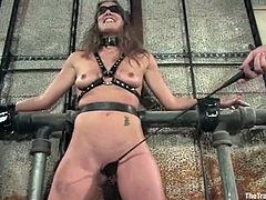 This desirable and smoking hot babe Jade gets two masters torturing and fucking her from both ends. Oh, honey is feeling herself like in heaven.