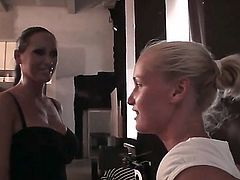 Hi everyone! We have three awesome chicks in todays episode: Kathia Nobili, Adelaida and Mandy Bright. All of them are naughty sluts and prefer to pose for the audience. So lets watch
