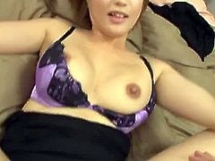 This filthy and horny babe gets naked for a nice gangbang action. She sucks several daggers and gets them all in her holes.