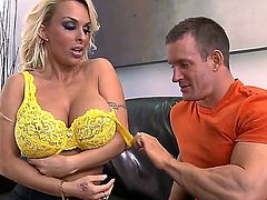 Big tit blonde MILF Holly Halston is one of the most popular ladies that you will find on the internet. She is into gagging on a hard dick and there is nothing to stop her.