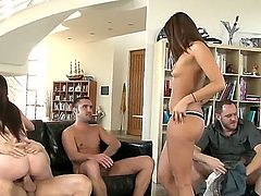Group sex action with delicious Cece Stone,Giselle Leon and Tegan Summers is not something that you want to miss for the world. They need hard dicks deep!