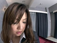 Tasty looking Japanese teen with doll face hooks up with horny dude. She allows him to polish her cuddly round tits before he proceeds to tongue fucking her oversized labia in sultry close up sex video by Jav HD.