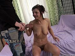 Horny mature woman gives her lover the best blowjob of his life