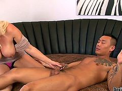 Just give her a hard penis and she is gonna open her mouth wide and gag on it like there is no tomorrow. Her name is Devon Lee and she is addicted to sex.