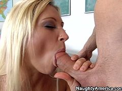 Curvy blond teacher Devon Lee gets her pussy fucked mish on the desk