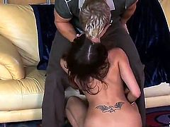 Dude got himself a bit of pro ass and her name is Rene Cruz. She does an incredible dance but she does not start sucking until she sees the cash. She is then all over that cock and she even lets him lick her.