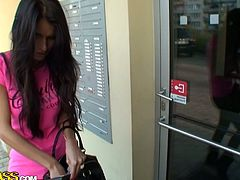 After a hard day of shopping in supermarket, divine brunette Russian teen gladdens her sleepy boyfriend with a rapacious mouth fuck in sizzling hot sex clip by WTF Pass.