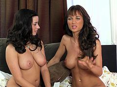 Today we have an amazing lesbian scene with two busty chicks Roxanna and Taylor Vixen. These hotties have the sexiest bodies I've ever seen and today they will show them to you.