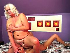 Naughty forty slutty milf bitch lesbo Judi gets her orgasmic cunt licked by a horny brunette bitch Parker