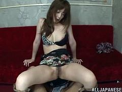 After getting fucked in the restroom, the Japanese slut Kaede Fuyutsuki is going to get fucked by two cocks at the same time to get facial.