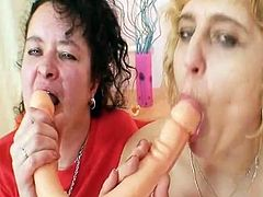 Old old non-professional moms One of them beside lanate grunt pleasuring dual sided porn toy