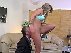 Love for foot fetish brings mature man Tom Byron to voluptuous female Jessa Rhodes. She is an evil thing with amazing ass. Tom falls on his knees and licks her tasty anus.