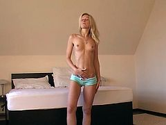 Fredericke gets freaky in her very first casting video as she fiddles with her front bum and shows us her clit.