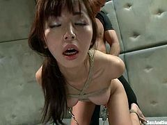 Horny Marica Hase gets hanged up upside down. After that she gets her ass toyed and pussy fucked from behind.