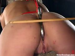 Sexy Kelly Wells gets her wet pussy toyed by a machine