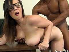 She is naughty college slut who fucks all her teacher to get high grades. She is already fully formed woman having curvy body and big tits. Watch her acting nasty with her teacher.