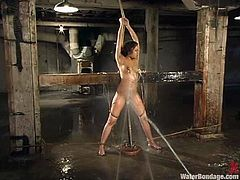 Annie Cruz gets toyed in both holes and tortured in water