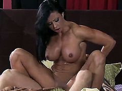 Beautiful brunette chick Jewels Jade spreading her slender sexy legs for her boyfriend Scott Nails to let him lick up her holes and have a great hardcore fuck!