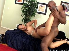 Amazing Asian slut sucks a dick skillfully. After that she lies down on a couch and gets her tight vagina drilled deep.