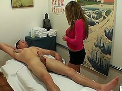 Romeo Price demands to get the best fucking massage this spa saloon can offer. Cute Mia Lelani is the one who is going to be in charge of satisfying this angry man.